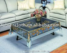 coffee table cloth silver design