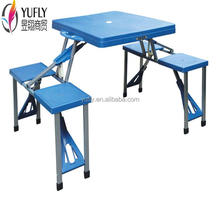 table and seat sets ABS PP plastic garden BBQ picnic camping folding table