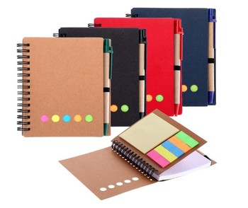 Promo custom notebook with pen and sticky notes for students
