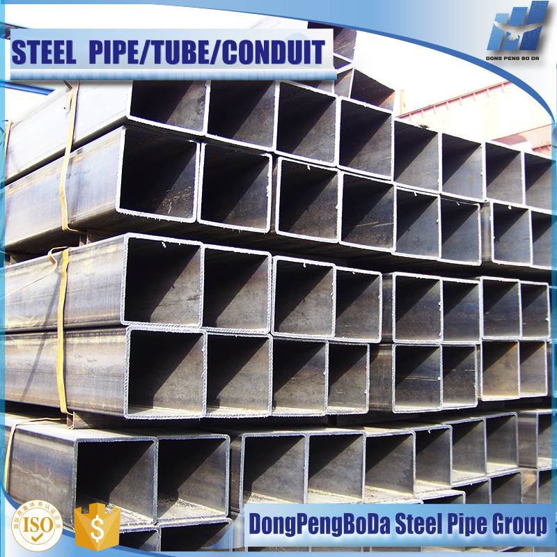 Alibaba High quality Black iron square steel tube profile