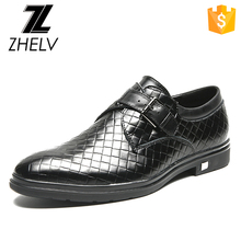 2017 new fashion trend low top cow skin upper wholesale luxury bukle strap man genuine leather dress shoes