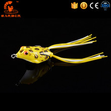 Hollow Body Handmade Bass Snakehead Soft Wobbler Sea Isca Pesca Artificial Bait Frog Fishing Lure