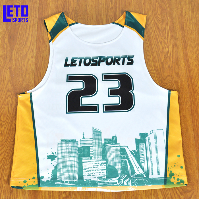 Cheap Custom Reversible Sublimation Lacrosse Pinnies