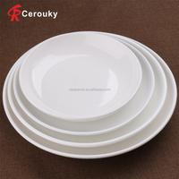 Wholesale white ceramic porcelain restaurant dinner plate