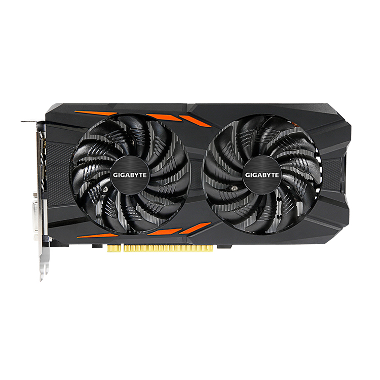 GIGABYTE Popular NVIDIA GeForce GTX1050 Windforce OC 2G GDDR5 Graphics Card with 6 pin <strong>128</strong> bit