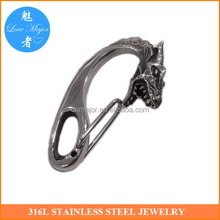 Classic Dragon Head Stainless Steel Jewelry Clasp Findings For Fashion Wallet Chain