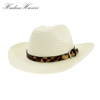 Men's Straw Cowboy Hat Artificial Handwork Beach Straw Hat Western American Style Sombreros Hat
