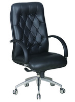High Quality Office PU & PVC Backrest Office Manager PP Chair