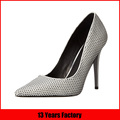 laser hole shoe upper white leather 12cm high heel shoes