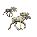 Factory Custom Animal Fridge Magnet Metal Elk Plating Brass Fridge Magnet Animal