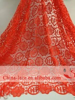 Top quality embroidery lace fabric dubai,bridal french lace fabric,wedding dress lace China suppliers