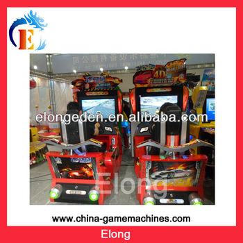 2017 hot sale coin operated racing game machine 4D outrun racing car game machine