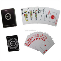 High end plastic custom poker cards Texas Hold'em game playing cards