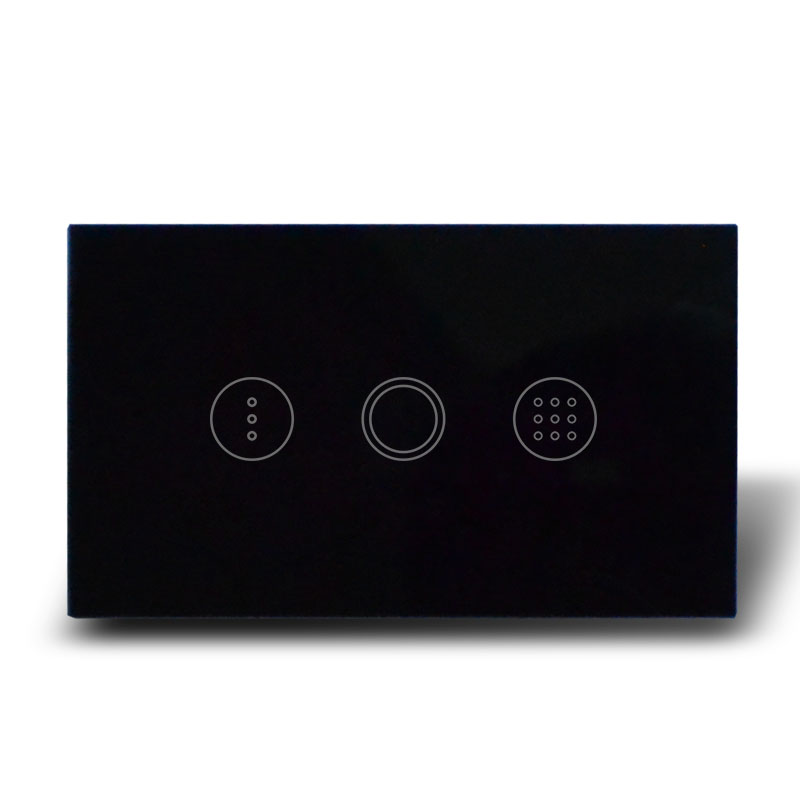 High-grade crystal glass panel touch screen timer switch for wall light