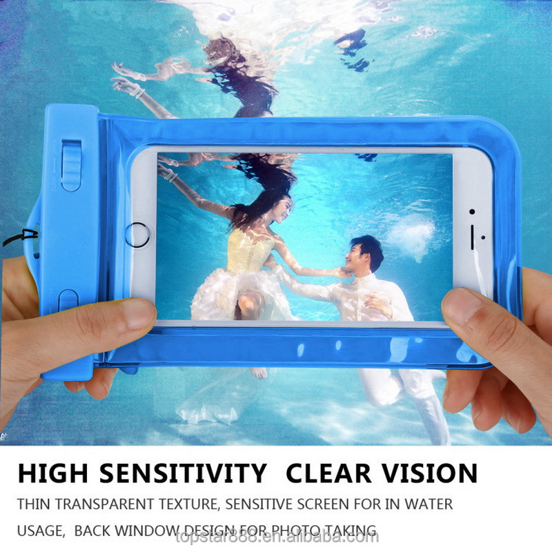 Wholesale Waterproof Underwater Mobile Phone Case Bag Pouch for iPhone 4s to 6s <strong>plus</strong> for Samsung s4 to s7 for Huawei for Xiaomi