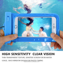 Wholesale Waterproof Underwater Mobile Phone Case Bag Pouch for iPhone 4s to 6s plus for Samsung s4 to s7 and huawei xiaomi