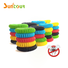 Wholesale cheap natural DEET-FREE Pest Bug Control Citronella Bands coil mosquito repellent bracelet