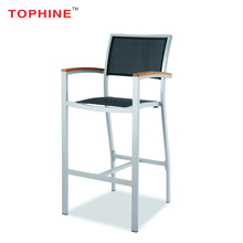 TOPHINE Furniture Supplier Modern Aluminium Bar Stool Chair With Armrest