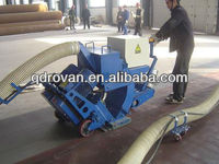 Floor shot blasting machine cleans factory and warehouse floors