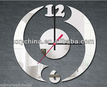 cheap and lovely plush real time clock for home decoration