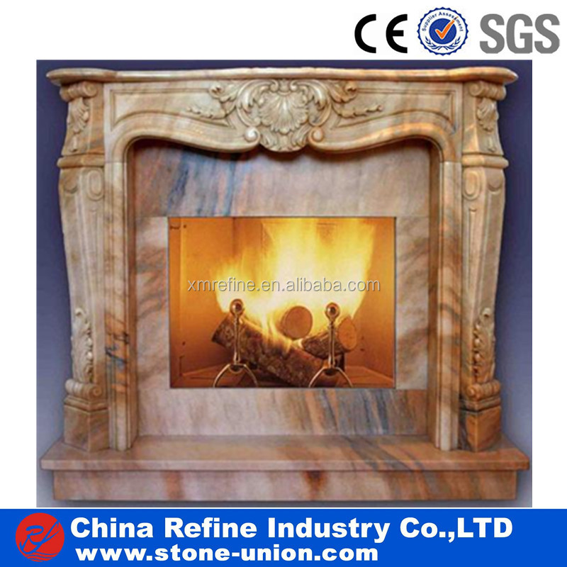 Stone fireplace marble or granite