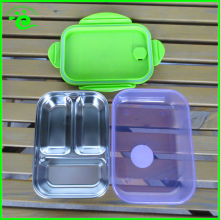 3 Compartments Stainless Steel Bento Lunch Box