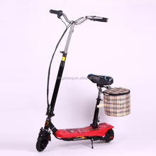 popular cheap 24v 120w kids/children electric scooter with bag and seat