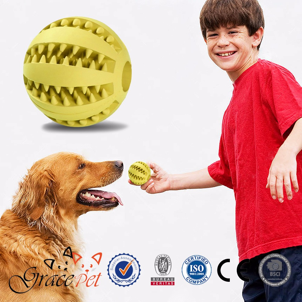 Mint Fresh Natural Rubber Reduce chewing soft ball dog toy