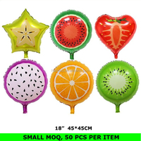 Factory Wholesale 18 Inch Foil Myalr Metalic Fruit Balloon