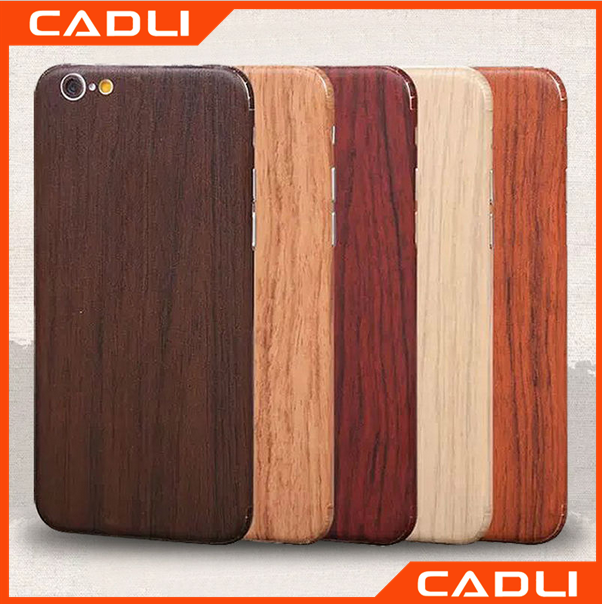 Wooden pattern full cover skin sticker phone case for iPhone 6 plus