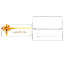 Currency Envelopes (2 7/8 x 6 1/2) - Gold Bow (50 Qty.) |Currency Envelopes | CUR-99-50