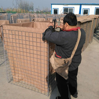 Mil 6 barrier wall for army /3x3'' hole size defence barrier/300g/m geotextile military barrier wall