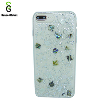 Phone case manufacturing white snow bling glitter case for iphone 7 8 plus