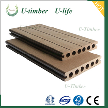 Timber wood plastic WPC outdoor cheap composite decking material