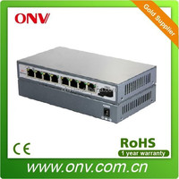 9 Port PoE switch for IP Cam with 1 Uplink Fiber Port