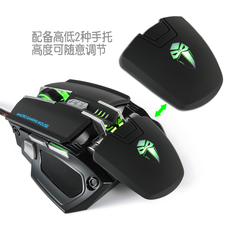 Adjustable 4000 DPI computer optical 7D drivers USB gaming mouse with multicolor breath LED light