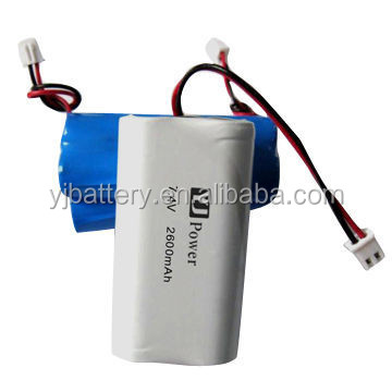 2600mAh Rechargeable Lithium Batteries 18650 7.4V Used In Toy