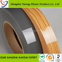 Good quality decorative melamine paper home furniture pvc plastic wood grain edge strips