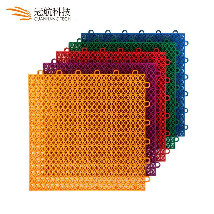 China best selling waterproof removable pp outdoor interlocking basketball sports courts flooring tiles
