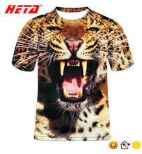 New arrival top sale printed color t-shirt for unisex t shirt custom animal 3d t-shirt