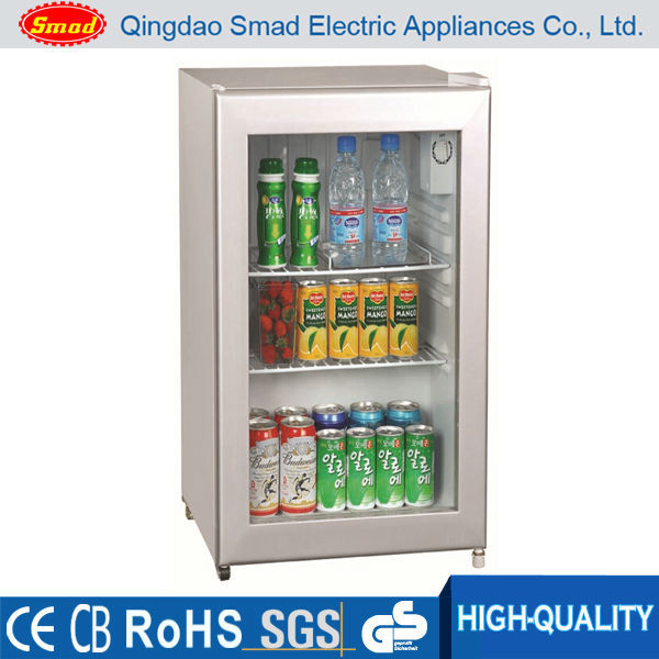 mini glass door horizontal refrigerator showcase