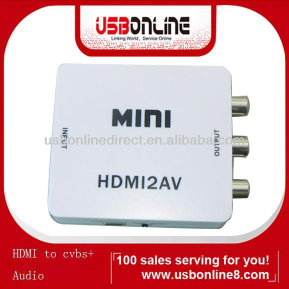 Wholesale hdmi input to av output converter box for TV VHS VCR DVD PS3NTSC/PAL