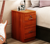 Bedroom Furniture bedside table round corner design Nightstand with lock