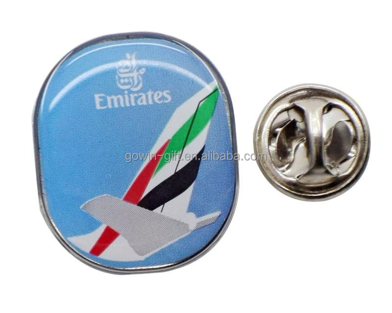 custom metal epoxy printing lapel pin
