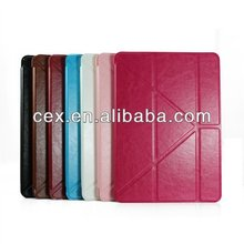 Wholesale - fashion transformers foldable stand folio leather case for iPad 5 iPad air