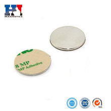 Hot sale small disc neodymium magnet with 3M adhesive