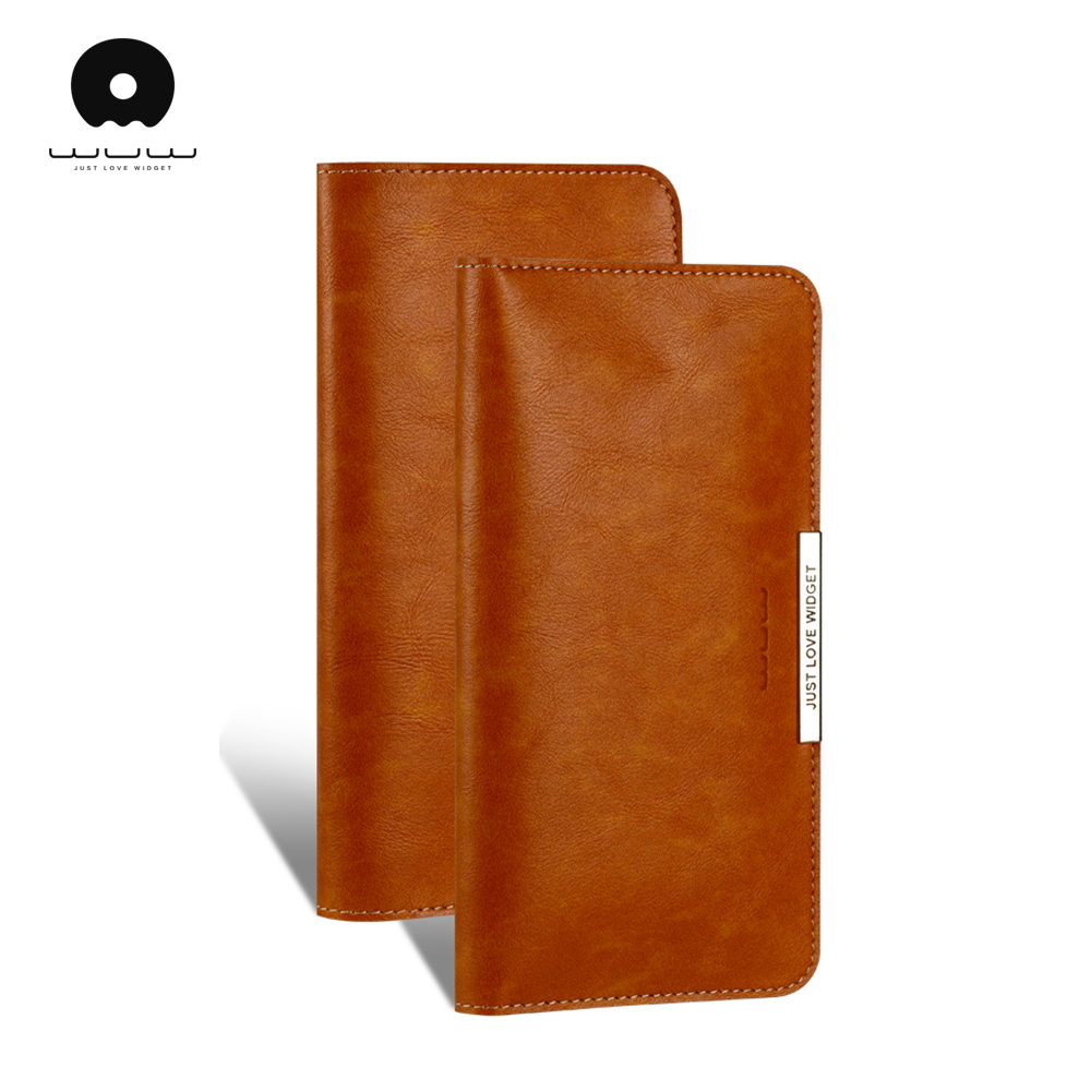 WUW Business men wallets leather for iphone 5 6 7 8 and other smartphone