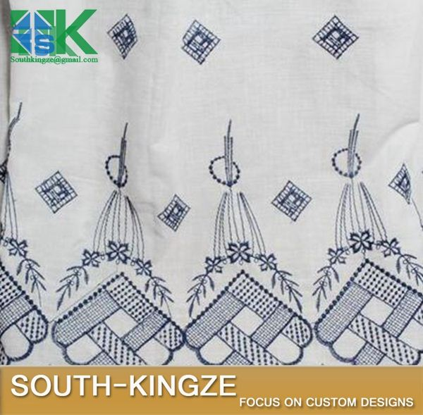 2016 Fashion Lace Fabric Art Lace New Navy Bilateral Symmetry Cotton Openwork Embroidery 2016 Fashionin-friendly Soft Summer Dr