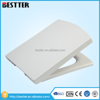 China supplier square white rotate urea toilet seat brands for OEM