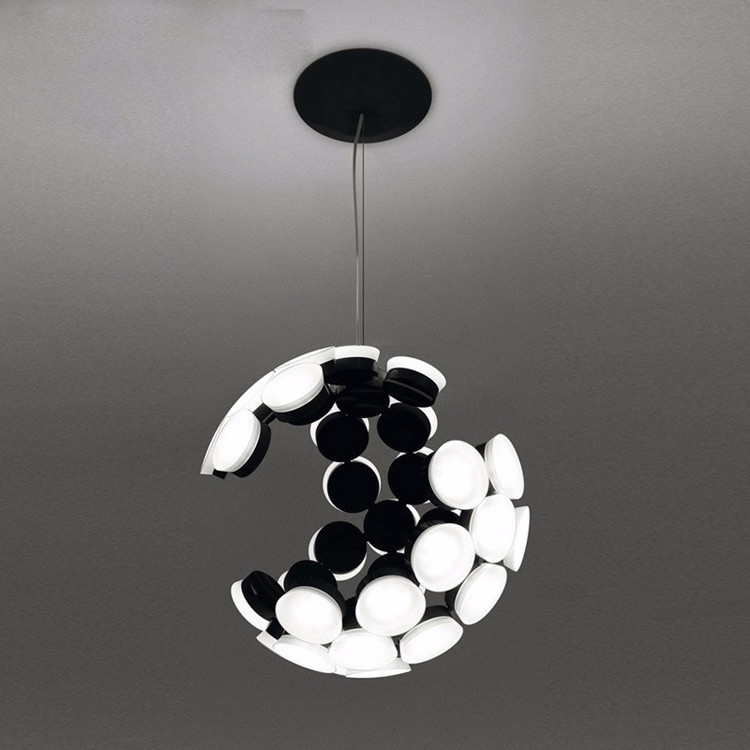 fashion LED roundness Acrylic ball chandelier light for decoration